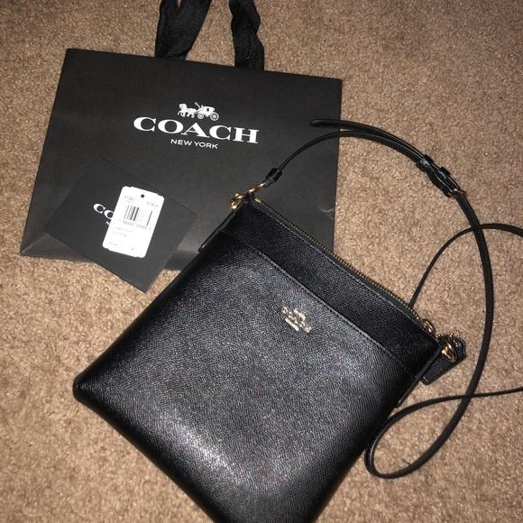 Coach Handbags - Black Coach Crossbody